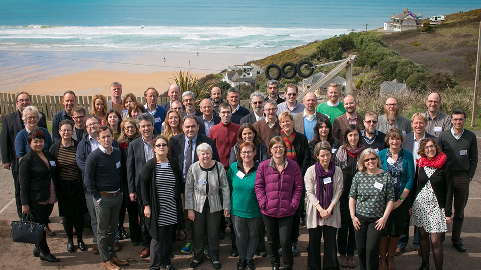 All members of the BlueHealth project assembled in Cornwall