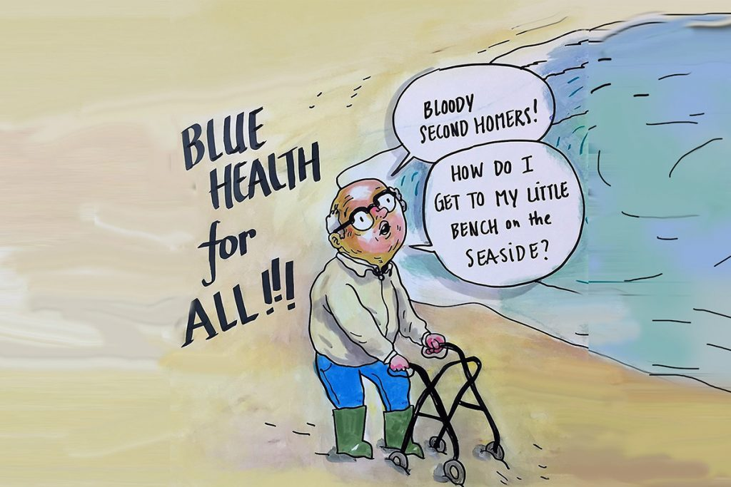 Illustration demonstrates local perceptions of access to blue space in Plymouth.