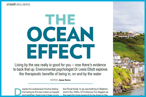 A screen shot of the coast article with the headline 'The Ocean Effect' shown