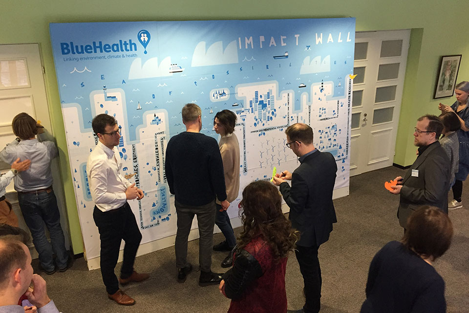 Researchers gather at the'impact wall' in Estonia