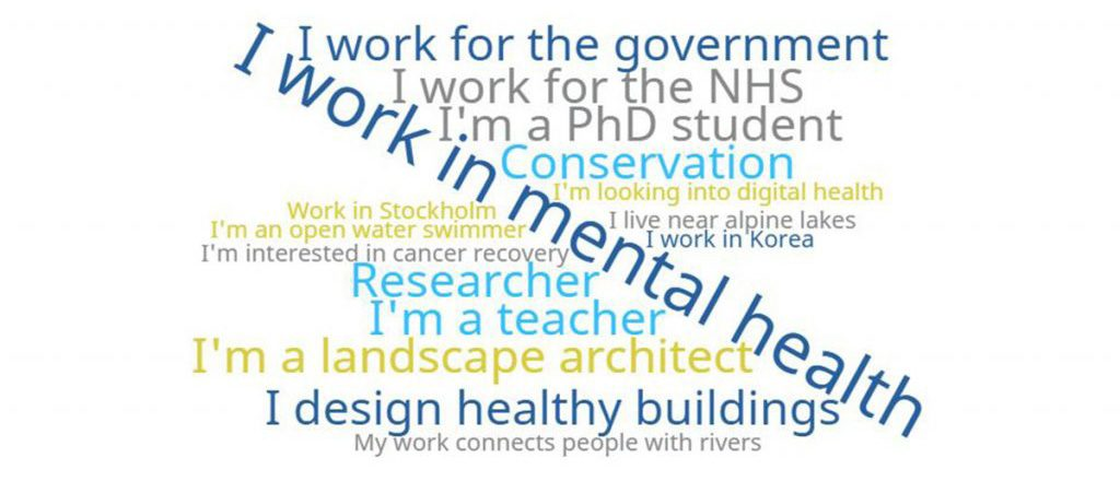People tell us why BlueHealth relates to their work