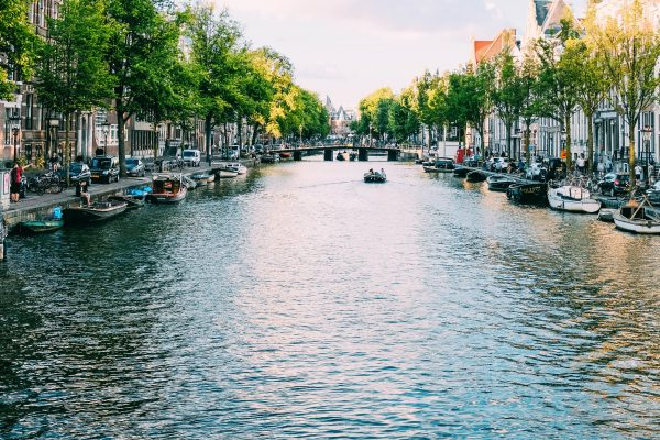 Photo of canal in Amsterdam