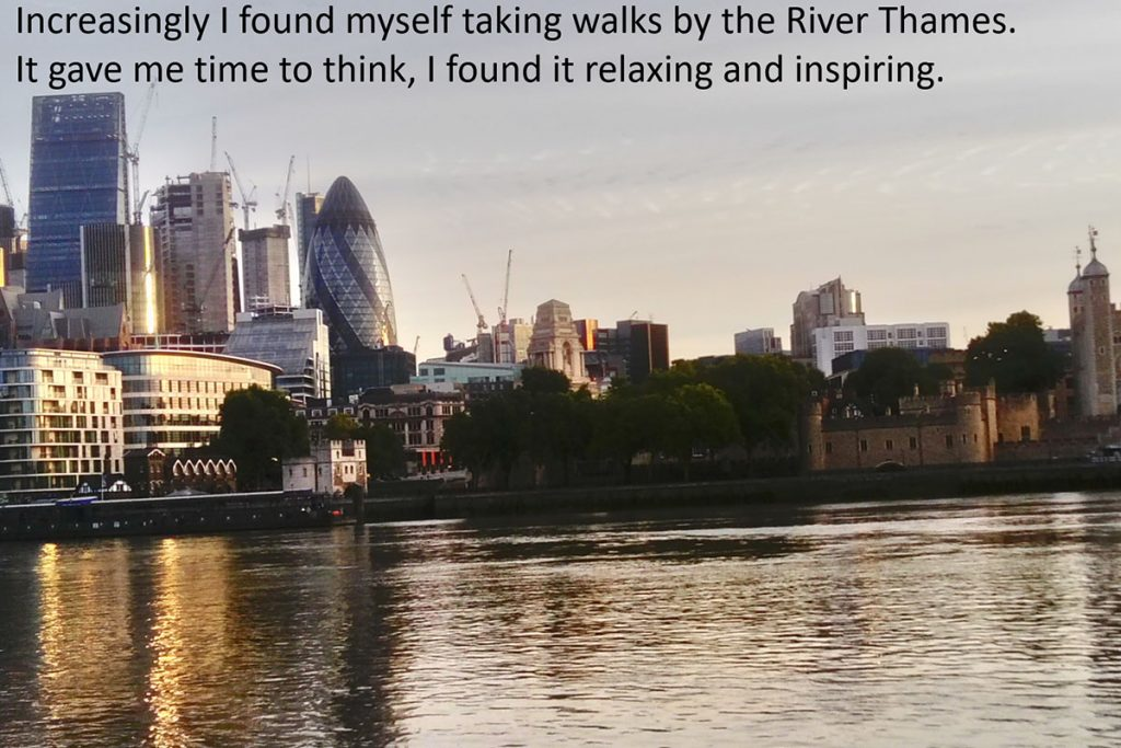 Participant shares their memories of visiting the River Thames.