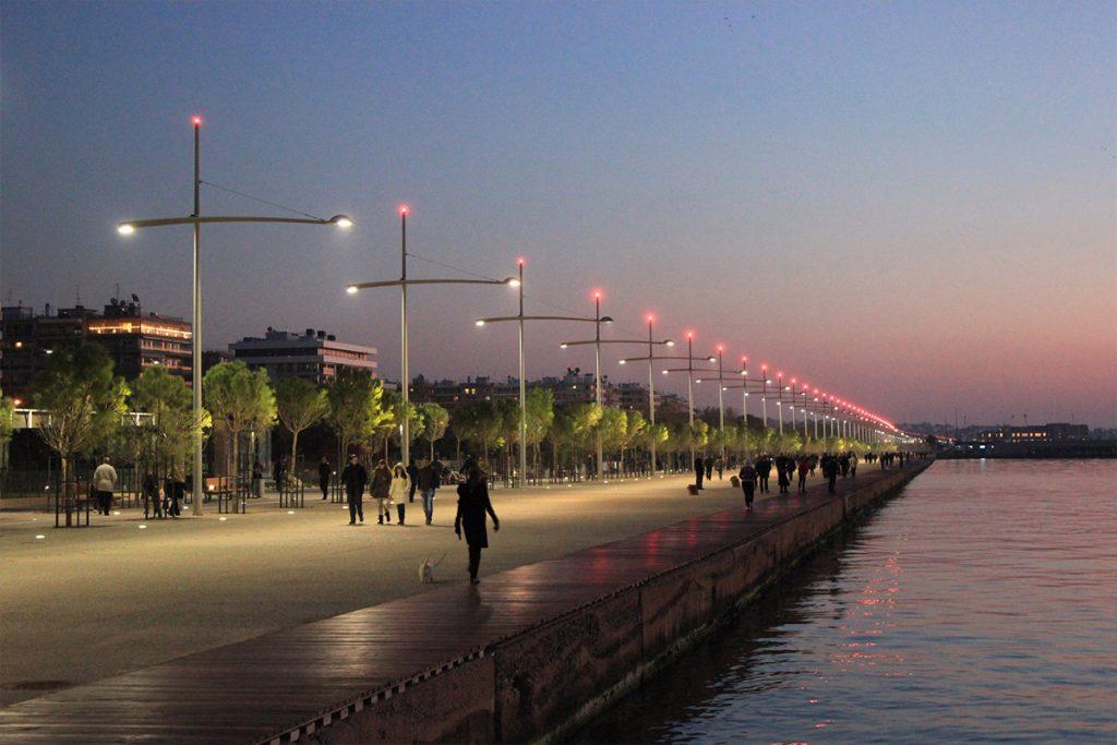 Thessaloniki sunset at sunset