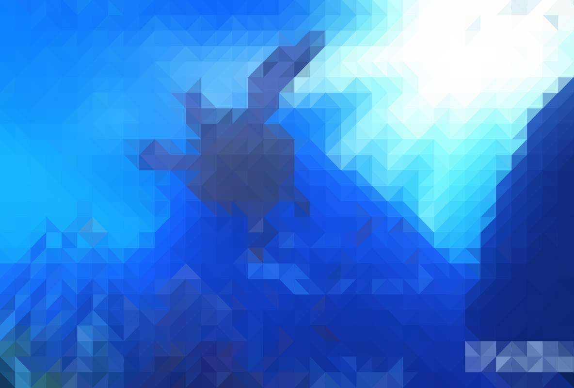 Image of a virtual blue environment as used in the research (Photo credit The Blu)